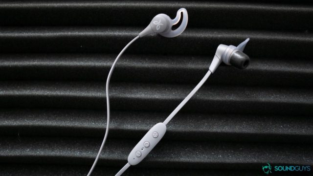 We checked out the gray version of the Jaybird X4 earbuds.