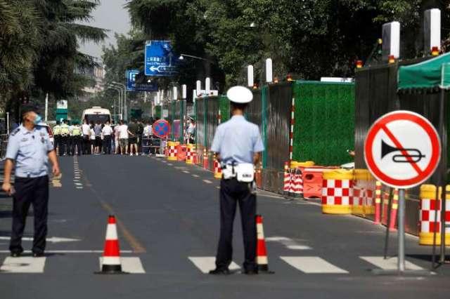 Le quartier autour du consulat américain à Chengdu (Chine) a été bouclé le 27 juillet.
