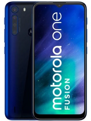 Motorola One Fusion in Deep Sapphire Blue color