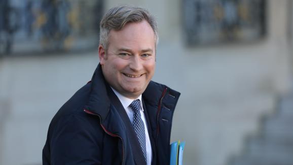 Le secrétaire d\'Etat Jean-Baptiste Lemoyne après un Conseil des ministres, le 6 janvier 2020.