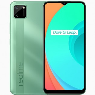 Realme C11 in Mint Green color
