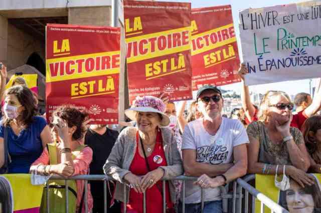Soutien du Printemps Marseillais. Elections municipales à Marseille, le 4 juin 2020