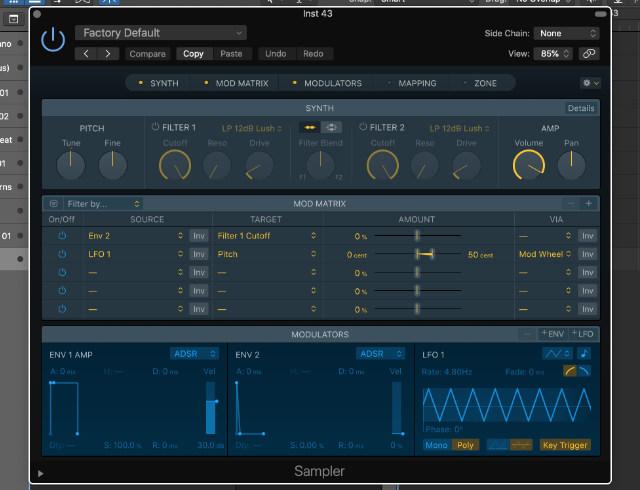 Sampler in Logic Pro X