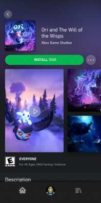 xCloud game streaming on Android