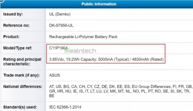Zenfone 7 battery and NCC listings