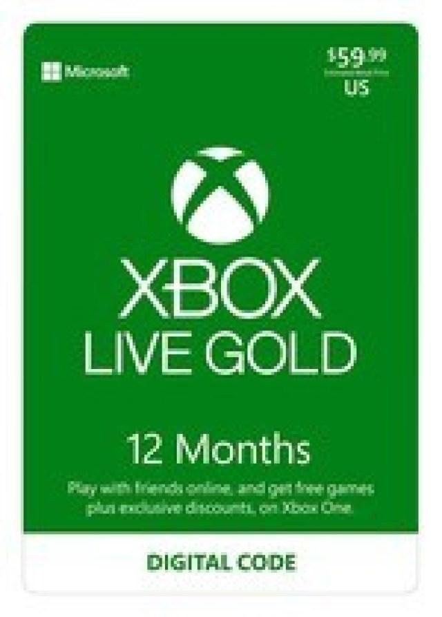 xbox live gold online code amazon