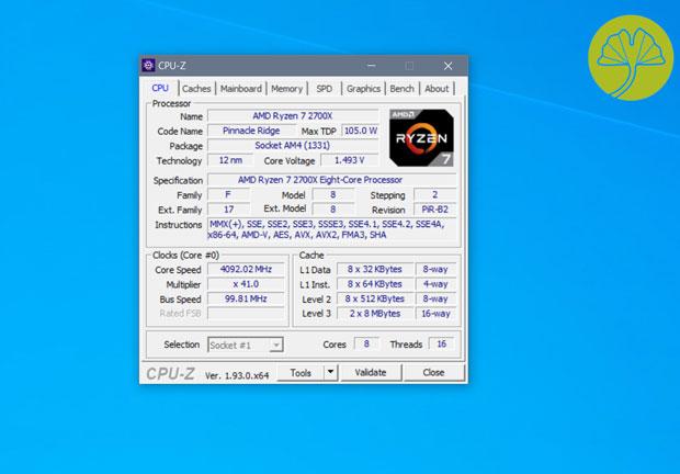 Utilitaire CPU-Z de CPUID