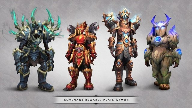 WoW Shadowlands Covenant Armor
