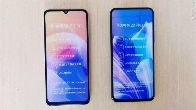 Huawei Enjoy 20 and 20 Plus apper in live images