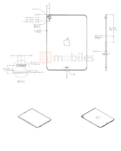 Schéma design iPad 2020
