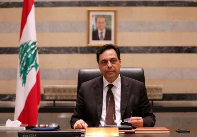 Hassan Diab, au palais du gouvernement à Beyrouth, le 10 août 2020.