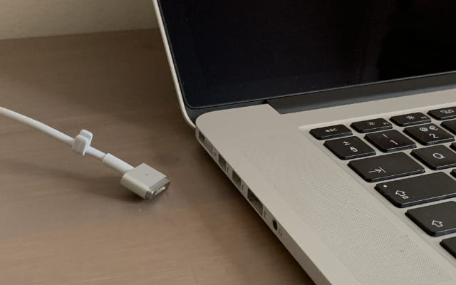 MacBook charger unplugged