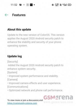 Oppo Reno4 Pro software update