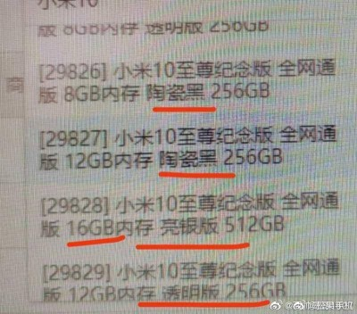 Xiaomi Mi 10 Ultra name confirmed, leak points to ceramic and transparent backs
