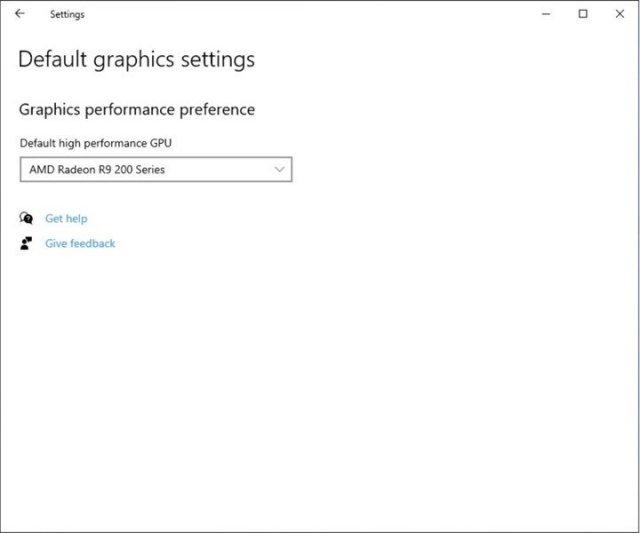 Default High Performance Gpu Setting