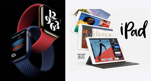 Apple Watch 6 et iPad 8