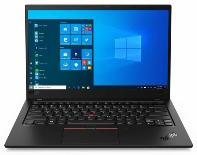 Lenovo ThinkPad X1 Carbon 8th Gen open front with keyboard