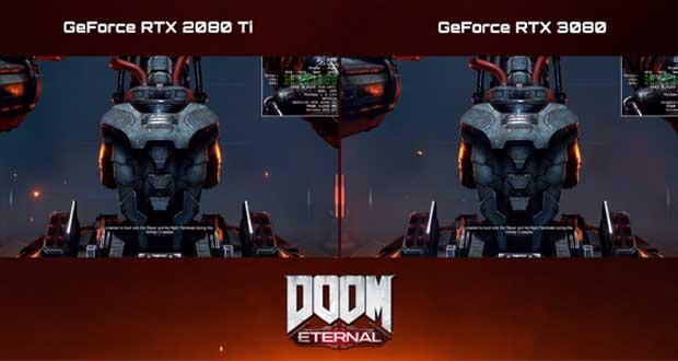 Doom Eternal en 4K Full Option – GeForce RTX 3080 Vs GeForce RTX 2080 Ti