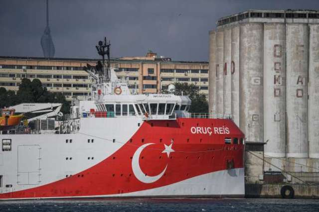 Le navire « Oruç-Reis» à Istanbul, le 23 août 2019.