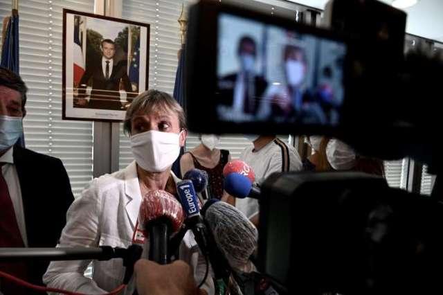 La préfère de GirondeFabienne Buccio lors de la conférence de presse du lundi 14 septmbre à Bordeaux.