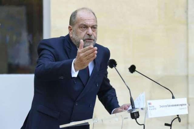 Le ministre de la justice, Eric Dupond-Moretti, lors d'une conférence de presse à Paris, lundi 21 septembre.