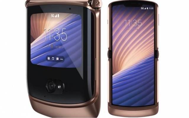 Motorola Razr 5G foldable blush gold