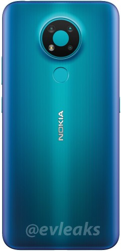 Nokia 3.4 appears in blue color