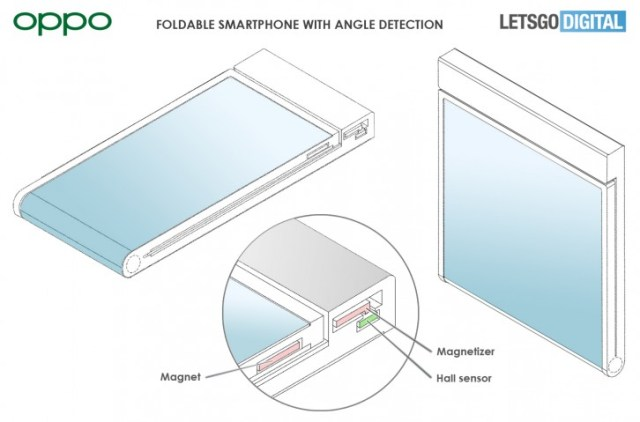 Oppo patent shows a clamshell foldable with the screen on the outside