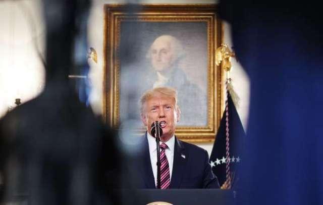 Donald Trump lors de la présentation de sa liste de candidats potentiels à la Cour suprême, mercredi 9 septembre, à la Maison Blanche de Washington.