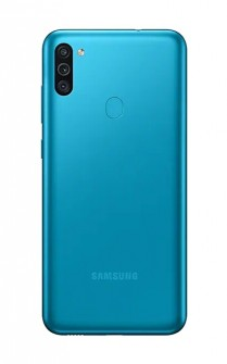 Galaxy M11 in black and blue