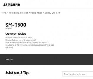 Samsung Galaxy Tab A7 2020 support pages