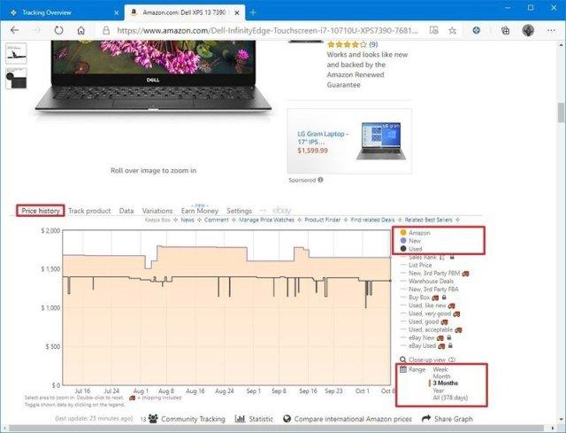 Keepa price history tracker