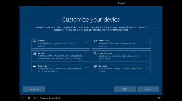 Windows 10, Microsoft introduit une nouvelle expérience OOBE
