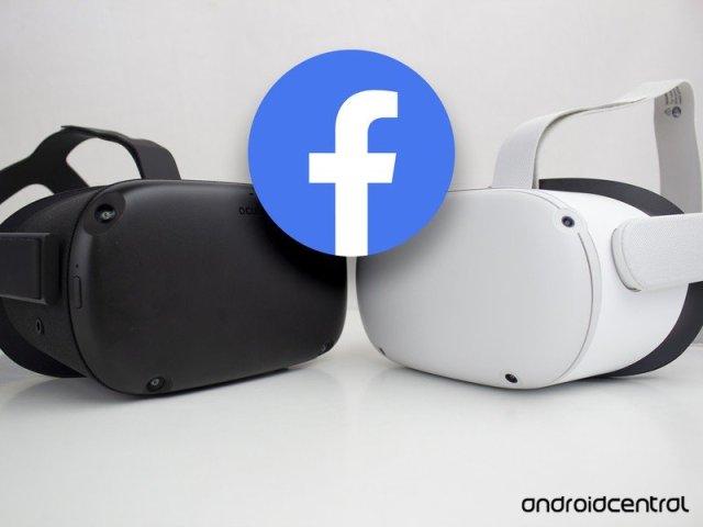 Oculus Quest 2 Facebook Logo Angled