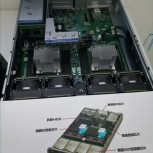 A close-up and details of the Kunpeng 920-based motherboard
