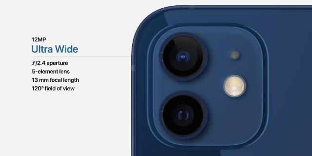 Ultra Wide camera in iPhone 12