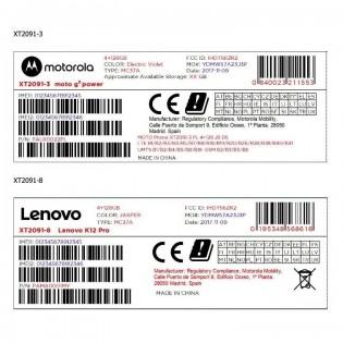 Lenovo K12 Pro at FCC