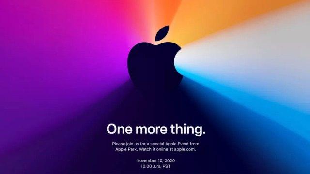 Apple - Invitation Keynote du 10 novembre 2020