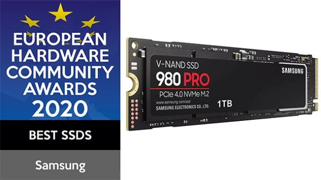 Samsung European Hardware Community Awards 2020 980 PRO Best SSD