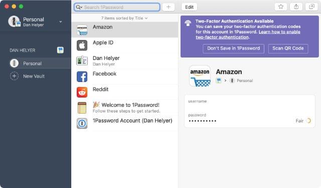 1Password Mac app