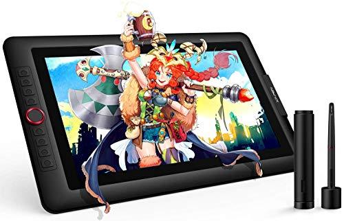 XP-Pen Artist 15.6 Pro Tablette Graphique avec Ecran HD IPS 15.6 Pouces Stylet à 8192 Niveaux avec Fonction Inclinaison Compatible avec Mac et Windows