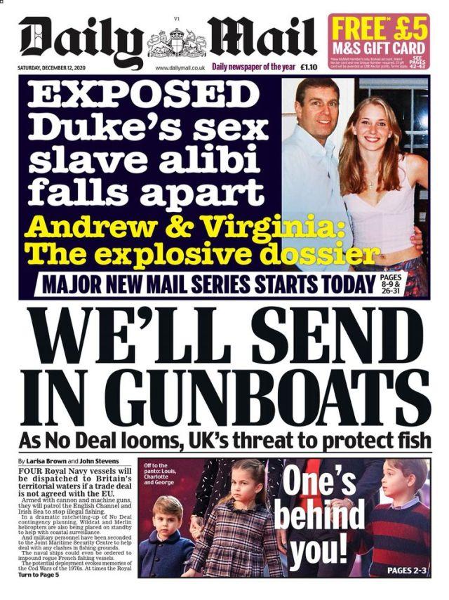 «On va envoyer nos canonnières», titrait samedi le Daily Mail.