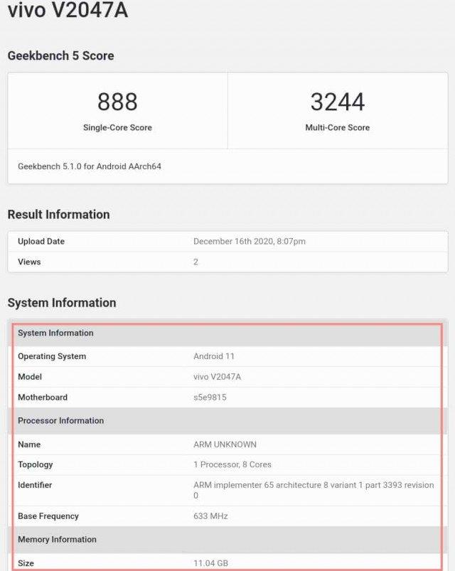 Exynos 1080 Performance Vivo X60
