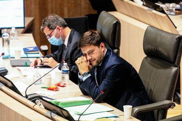 Benoît Payan, le 5 octobre au conseil municipal de Marseille.