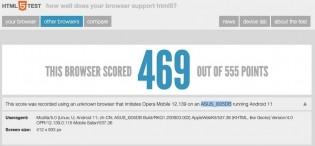 Asus ROG 5 on HTML5