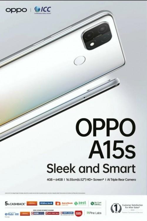 Oppo A15s banner