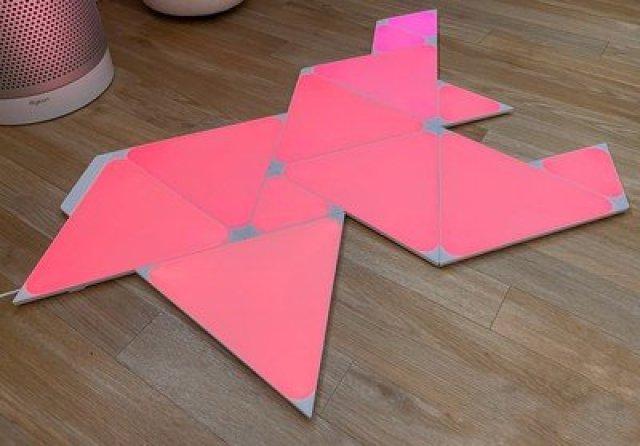 nanoleaf triangles on floor