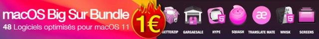 48 Logiciels Optimisés Mac Big Sur de 1€ à 5€ dans ce Bundle de fin d'année