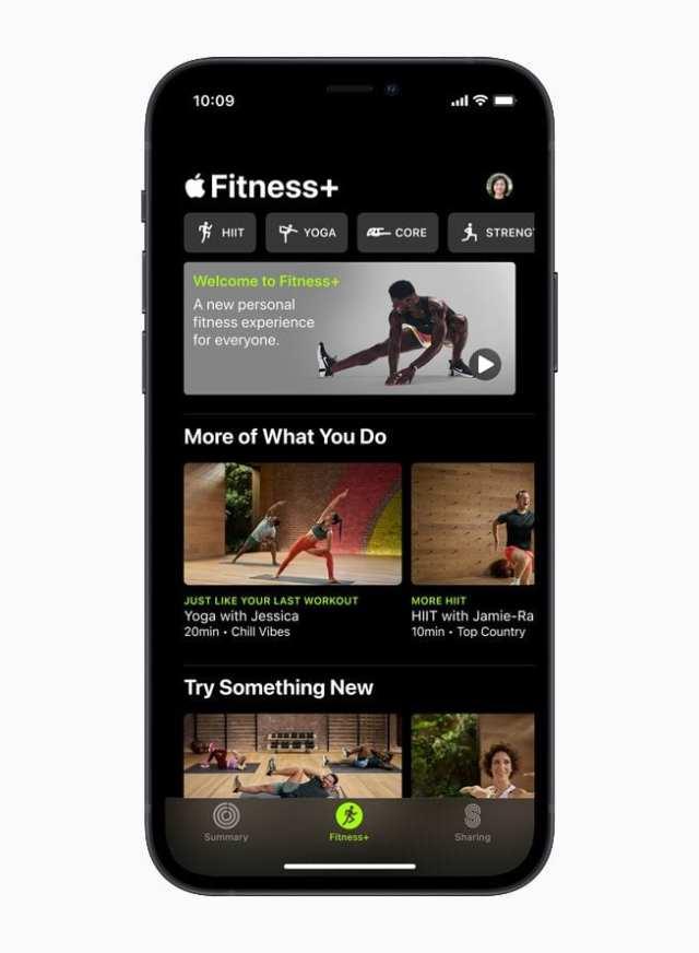 Apple Fitness+ on iPhone 1