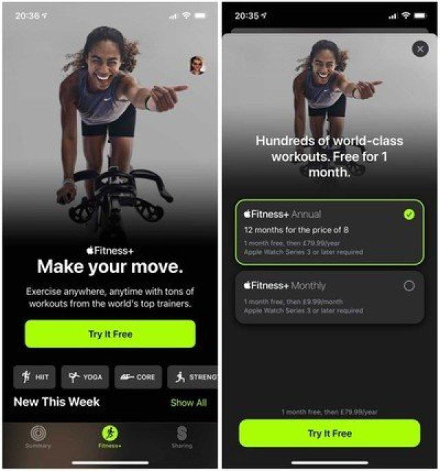 iphone fitness plus broken trial